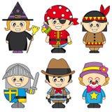 Σύνολο παιδιών που ντύνονται Στοκ Εικόνες