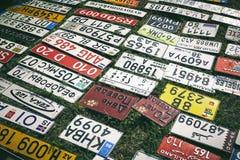Σύνολο παλαιών πιάτων αυτοκινήτων Στοκ Εικόνες