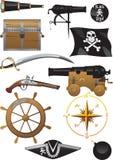 σύνολο πειρατών Στοκ εικόνα με δικαίωμα ελεύθερης χρήσης