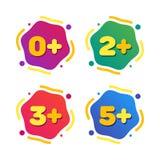 Σύνολο περιορισμών ηλικίας παιδιών Διανυσματική απεικόνιση χρώματος κινούμενων σχεδίων ελεύθερη απεικόνιση δικαιώματος