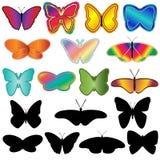 σύνολο πεταλούδων απεικόνιση αποθεμάτων