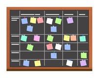Σύνολο πινάκων των στόχων στις κολλώδεις κάρτες σημειώσεων διανυσματική απεικόνιση