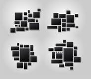 Σύνολο πλαισίων εικόνας κολάζ φωτογραφιών προτύπων για το montage φωτογραφιών ή εικόνων Για την περίληψη montage εικόνων σχεδίου  απεικόνιση αποθεμάτων