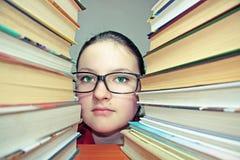 σύνολο πορτρέτου κοριτσιών ματιών βιβλίων Στοκ Εικόνες