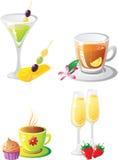 σύνολο ποτών s εορτασμού Στοκ φωτογραφία με δικαίωμα ελεύθερης χρήσης