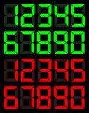 Σύνολο πράσινου και κόκκινου ψηφιακού αριθμού απεικόνιση αποθεμάτων