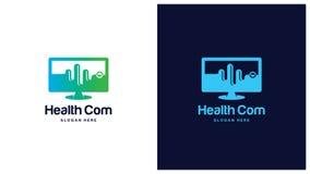 Σύνολο πράσινων σχεδίων λογότυπων, πράσινη έννοια λογότυπων υγείας Στοκ φωτογραφία με δικαίωμα ελεύθερης χρήσης