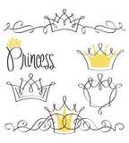σύνολο πριγκηπισσών κορωνών Στοκ εικόνες με δικαίωμα ελεύθερης χρήσης