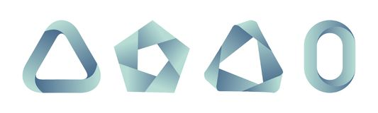 Σύνολο προτύπων λογότυπων κλίσης στοκ εικόνες με δικαίωμα ελεύθερης χρήσης
