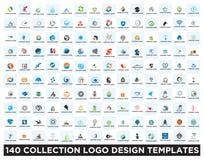 Σύνολο προτύπων σχεδίου λογότυπων ελεύθερη απεικόνιση δικαιώματος