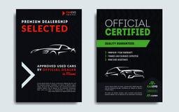 Σύνολο A4, A5 πρότυπα καρτών επιχείρησης παροχής υπηρεσιών επισκευής αυτοκινήτων ελεύθερη απεικόνιση δικαιώματος