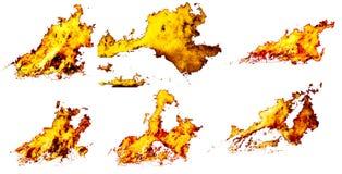 σύνολο πυρκαγιάς Στοκ φωτογραφίες με δικαίωμα ελεύθερης χρήσης