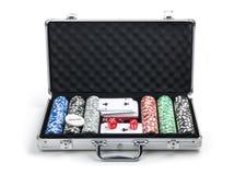 σύνολο πόκερ περίπτωσης Στοκ Εικόνα