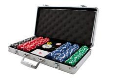 σύνολο πόκερ Στοκ φωτογραφίες με δικαίωμα ελεύθερης χρήσης