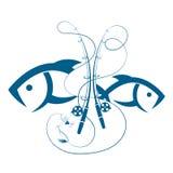 Σύνολο ράβδων και ψαριών αλιείας απεικόνιση αποθεμάτων