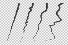 Σύνολο ραγισμένων γραμμών διανυσματική απεικόνιση