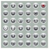 σύνολο σειράς φορέων glossee κουμπιών Απεικόνιση αποθεμάτων
