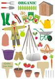 Σύνολο σημαδιών κηπουρικής Στοκ Φωτογραφία