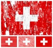 Σύνολο σημαιών της Ελβετίας grunge Στοκ φωτογραφία με δικαίωμα ελεύθερης χρήσης