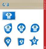 Σύνολο σημαιών της ΚΑΚ, σημαία καθορισμένο #211 διανυσματική απεικόνιση