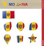 Σύνολο σημαιών της Μολδαβίας, σημαία καθορισμένο #19 ελεύθερη απεικόνιση δικαιώματος