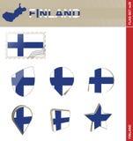 Σύνολο σημαιών της Φινλανδίας, σημαία καθορισμένο #28 απεικόνιση αποθεμάτων