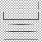 Σύνολο σκιών εγγράφου Διαφανής σκιά για το έμβλημα, διανυσματικό πλαίσιο απεικόνιση αποθεμάτων