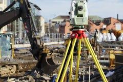 σύνολο σταθμών γεωδαισίας κατασκευής Στοκ φωτογραφία με δικαίωμα ελεύθερης χρήσης