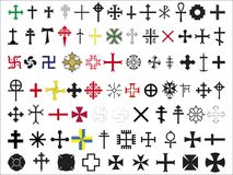 Σύνολο σταυρών Στοκ εικόνα με δικαίωμα ελεύθερης χρήσης
