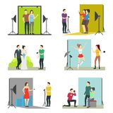 Σύνολο στούντιο φωτογραφιών κινούμενων σχεδίων διάνυσμα Στοκ εικόνες με δικαίωμα ελεύθερης χρήσης