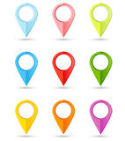 Σύνολο στρογγυλών δεικτών χρώματος με τη θέση για την περιεκτικότητά σας Στοκ Φωτογραφίες