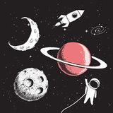 Σύνολο συλλογής διαστημικών στοιχείων Στοκ εικόνες με δικαίωμα ελεύθερης χρήσης