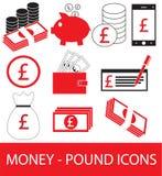 Σύνολο, συλλογή ή πακέτο του εικονιδίου ή του λογότυπου νομίσματος λιβρών Στοκ Εικόνες