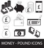 Σύνολο, συλλογή ή πακέτο του εικονιδίου ή του λογότυπου νομίσματος λιβρών Στοκ εικόνα με δικαίωμα ελεύθερης χρήσης