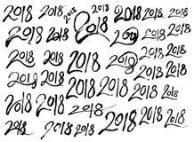Σύνολο συρμένου doodle EP γραμμών σκίτσων απεικόνισης δέντρων του χέρι Στοκ Εικόνες