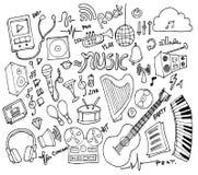 Σύνολο συρμένου doodle EP γραμμών σκίτσων απεικόνισης δέντρων του χέρι Στοκ Εικόνα