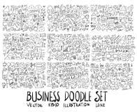 Σύνολο συρμένου doodle EP γραμμών σκίτσων απεικόνισης δέντρων του χέρι Στοκ εικόνα με δικαίωμα ελεύθερης χρήσης