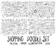 Σύνολο συρμένου doodle EP γραμμών σκίτσων απεικόνισης δέντρων του χέρι Στοκ φωτογραφίες με δικαίωμα ελεύθερης χρήσης