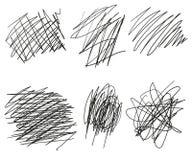 Σύνολο συρμένων διάνυσμα γωνιών, γραμμές, κύκλοι, ελλείψεις σκίτσων Doodle Το διάνυσμα μπλέχτηκε το χαοτικό κύκλο Doodle Κόμβος σ απεικόνιση αποθεμάτων