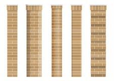 Σύνολο συστάσεων των κλασσικών στηλών τούβλου Στοκ εικόνα με δικαίωμα ελεύθερης χρήσης