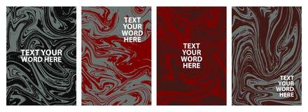 Σύνολο σχεδίου 4 ελάχιστου μαρμάρινου γραφικού καλύψεων Απλή αφίσα μέσα Στοκ φωτογραφία με δικαίωμα ελεύθερης χρήσης