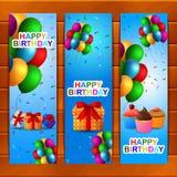 Σύνολο σχεδίου ευχετήριων καρτών γενεθλίων ελεύθερη απεικόνιση δικαιώματος