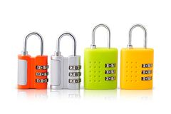 Σύνολο τεσσάρων κλειδαριών σχεδίων με τις λαμπρές επιλογές χρωμάτων Στοκ φωτογραφία με δικαίωμα ελεύθερης χρήσης