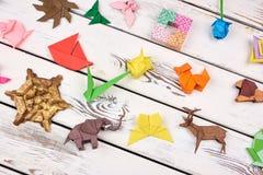 Σύνολο τεχνών origami Στοκ Εικόνες
