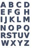 σύνολο τζιν αλφάβητου Στοκ Εικόνα
