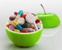 Σύνολο της Apple των φαρμάκων Στοκ φωτογραφίες με δικαίωμα ελεύθερης χρήσης