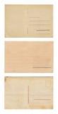 Σύνολο τριών εκλεκτής ποιότητας καρτών Στοκ Εικόνα