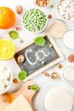 Σύνολο τροφίμων πλούσιο σε ασβέστιο στοκ εικόνες