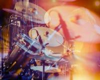 Σύνολο τυμπάνων, μουσική και έννοια ζωνών τζαζ Στοκ εικόνες με δικαίωμα ελεύθερης χρήσης