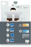 Σύνολο υπολογιστών τεχνολογίας Infographic Στοκ φωτογραφία με δικαίωμα ελεύθερης χρήσης